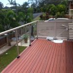 Timber deck and balcony with glass fence