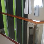 Glass and timber balustrade