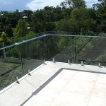 High balcony with glass balustrade
