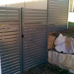 Slat Panel Side Access Gate and Fence
