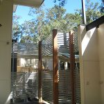 High Slat Panels Fence with timber